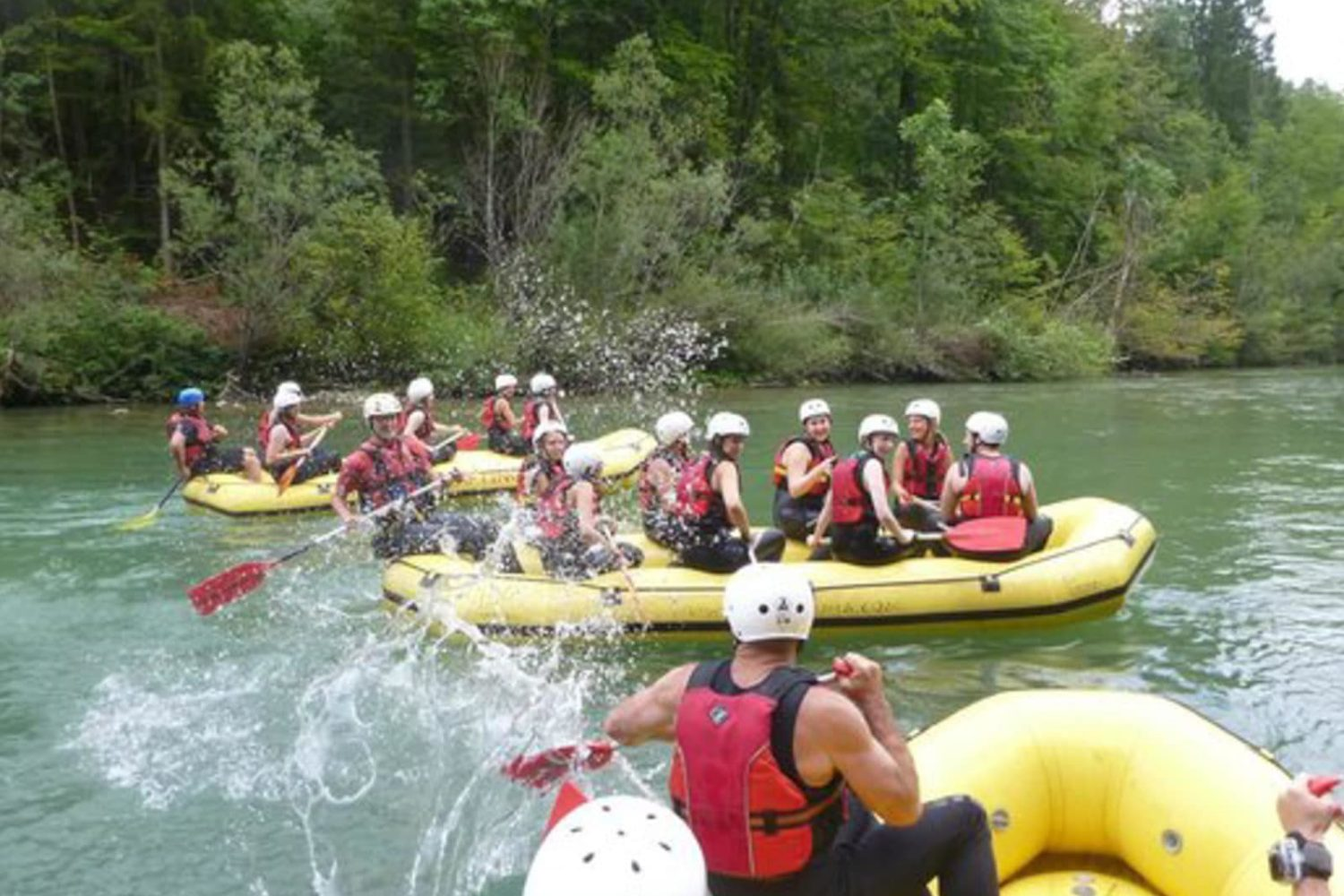 Family rafting in Bled