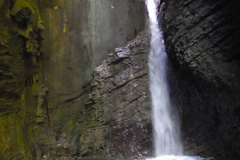 Kozjak waterfall on emerald river tour