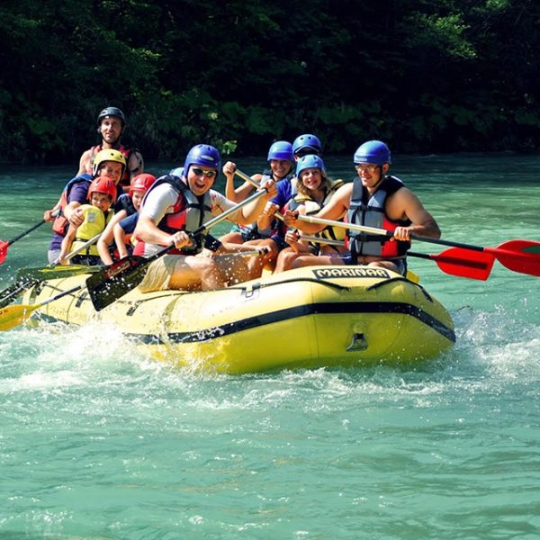 Rafting in lake Bled