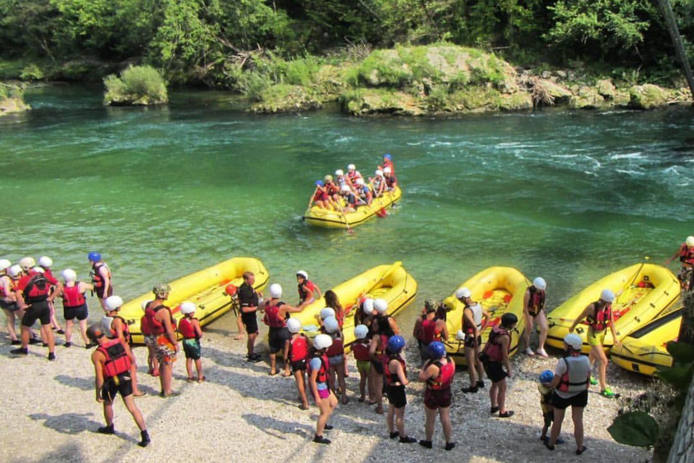 Rafting on Sava Dolinka