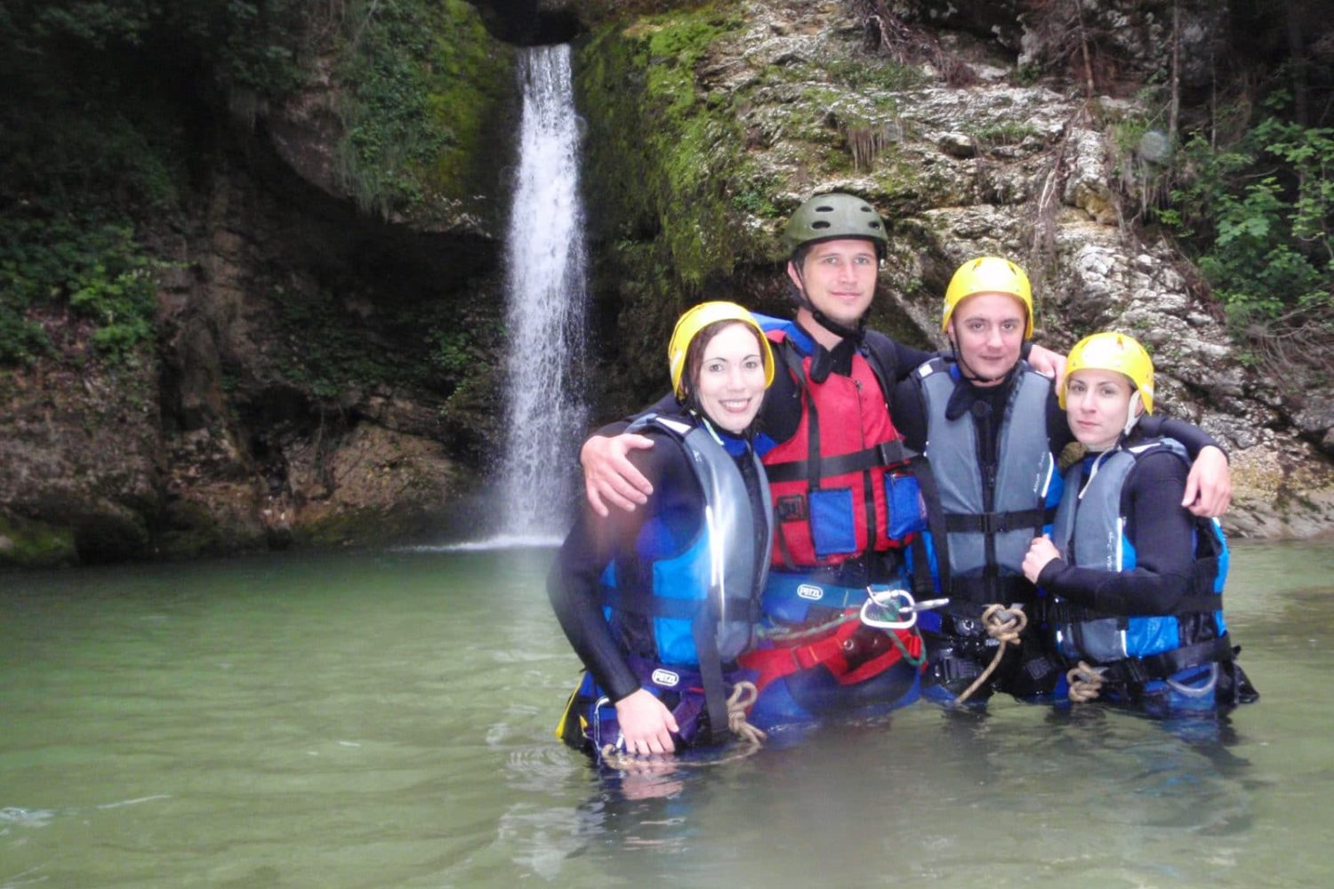 Canyoning activity in Bled