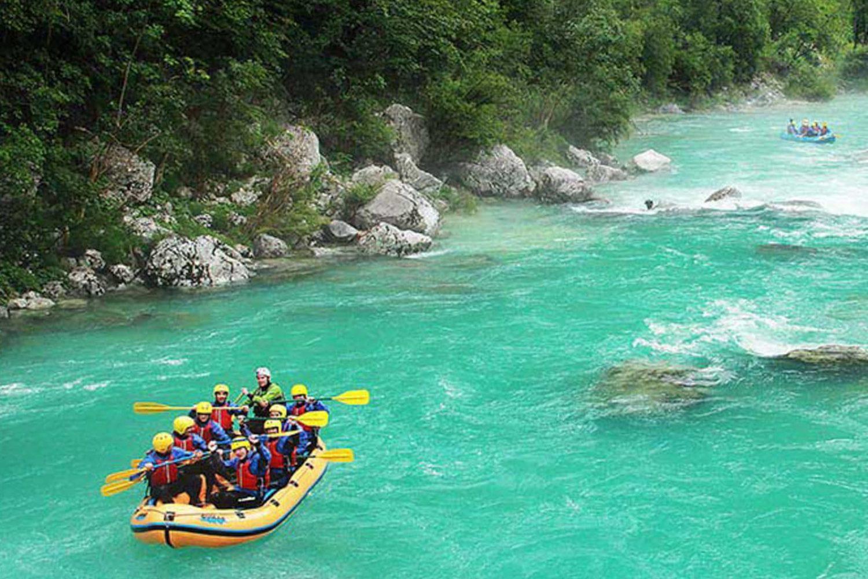 Rafting on Soca river