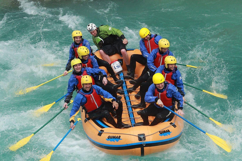 Adrenaline rafting in Slovenia