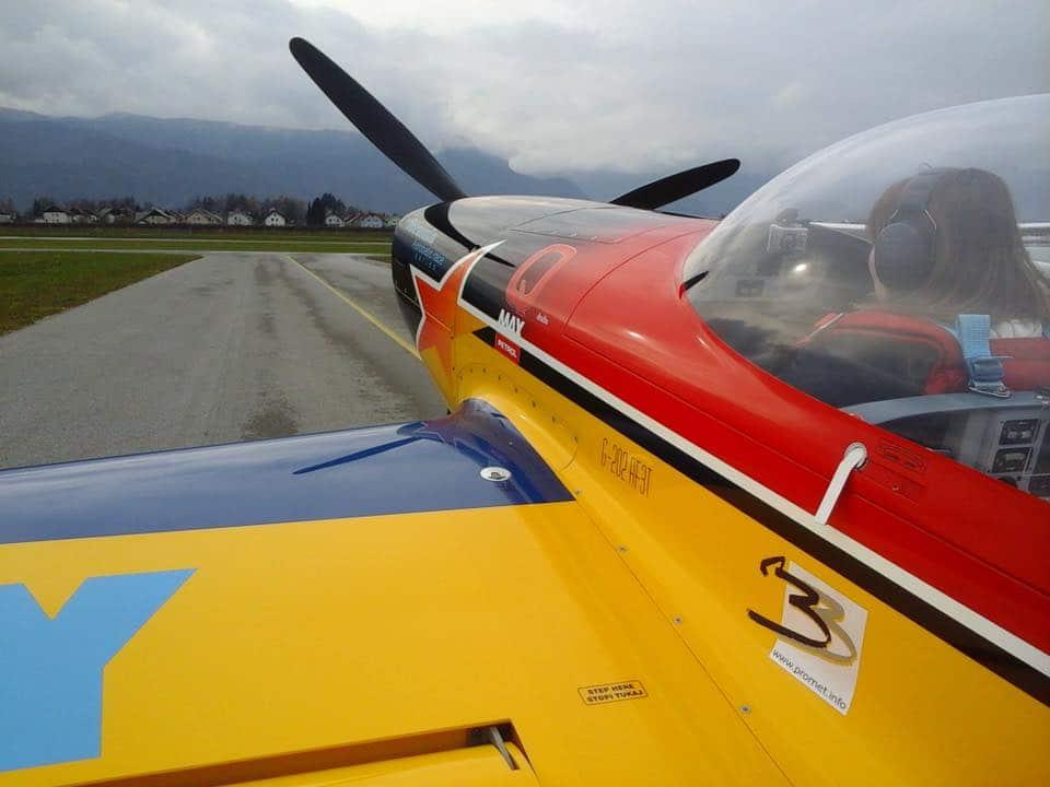 Aerobatic stunt flying Slovenija