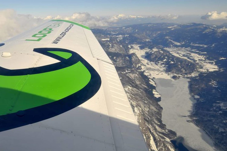 Airplane scenic flight in Slovenia