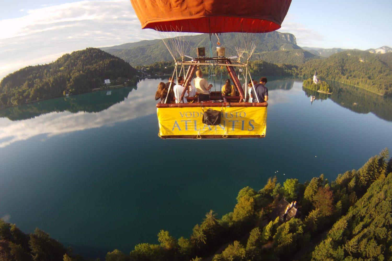 Balloon flight in Bled lake
