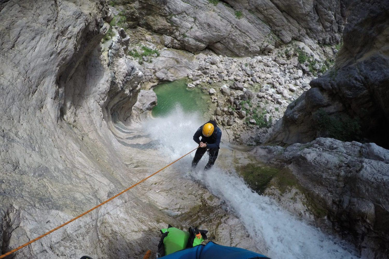 Bovec adrenaline canyoning activity