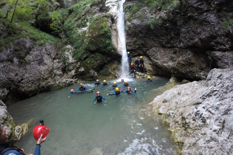 Canyoning in Bovec Slovenija