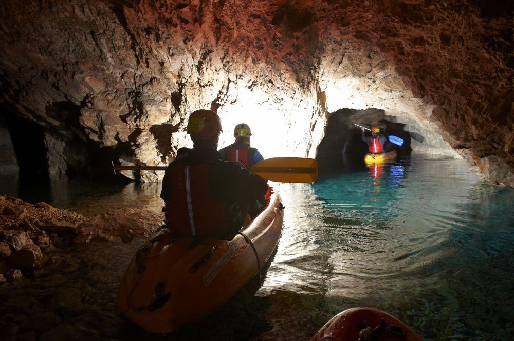 Cave Kayaking in Slovenia