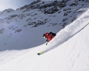 Freeride skiing in Slovenia