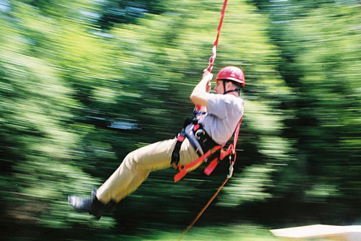 High ropes course in Bled lake