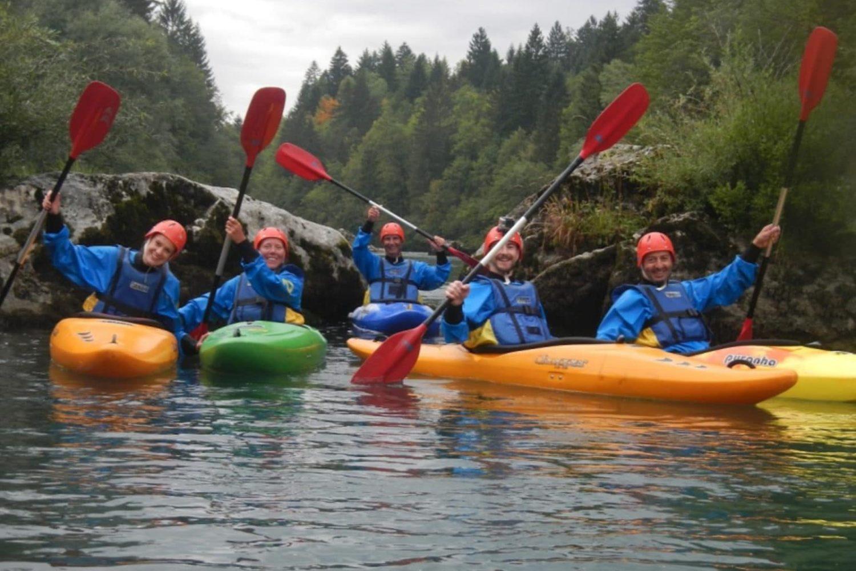 Kayaking from lake Bled
