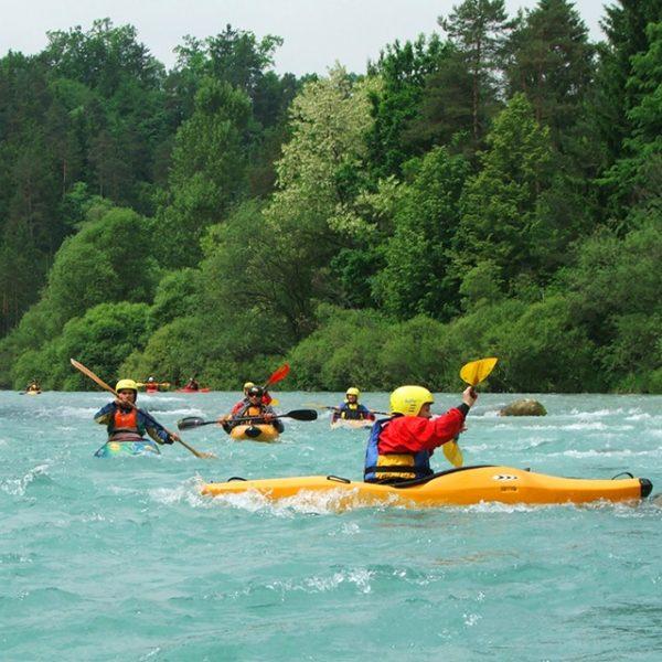Kayak on Sava river Bled