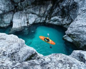 Kayaking on Soča river
