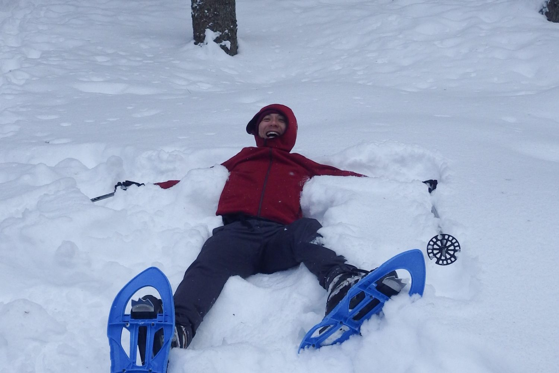 Snowshoeing on Pokljuka