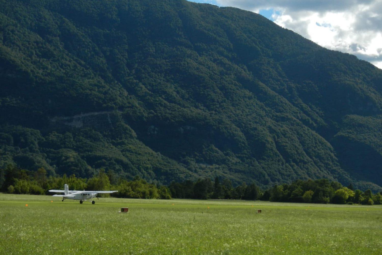 Skydiving in Soča valley
