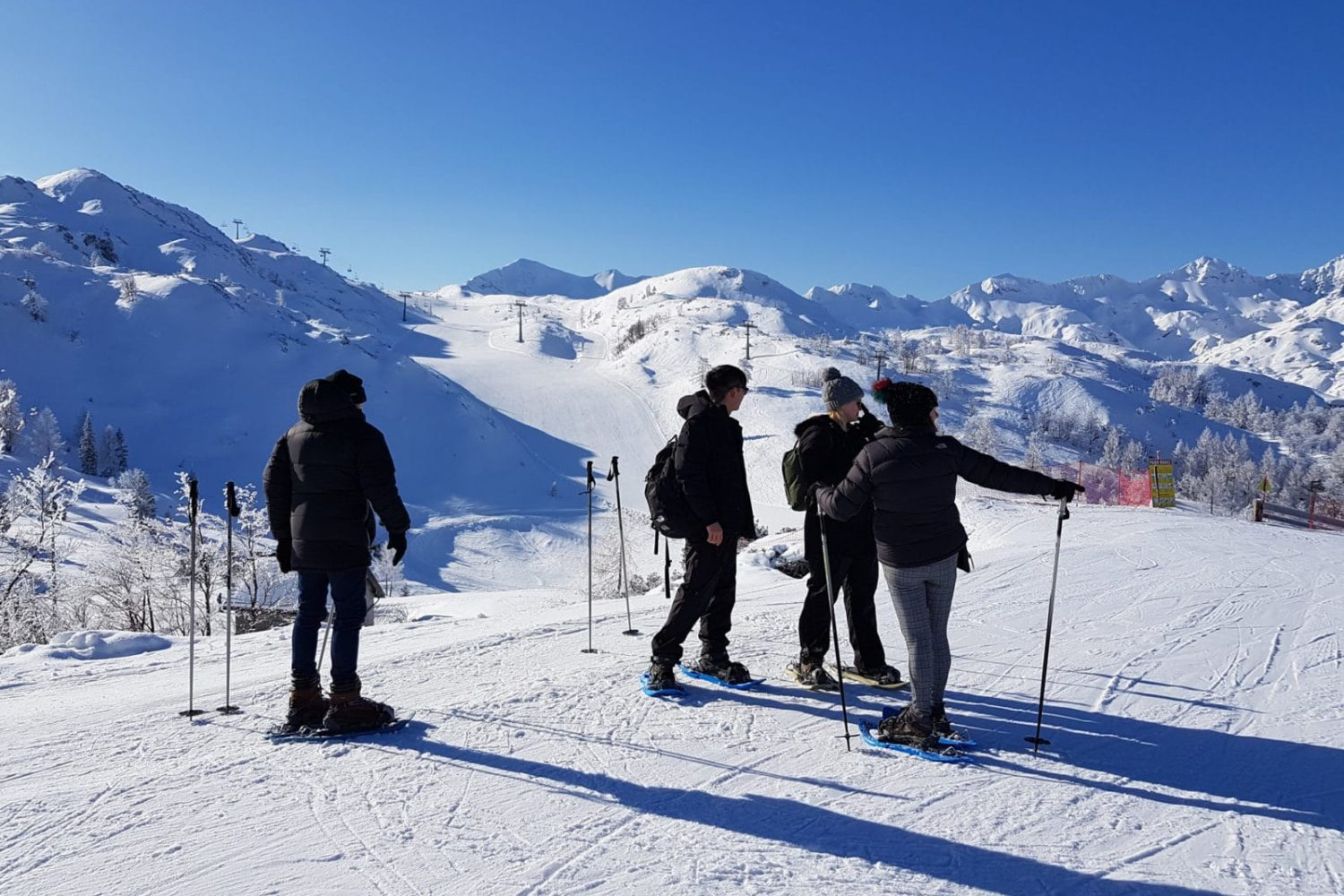 Snowshoeing from Bled