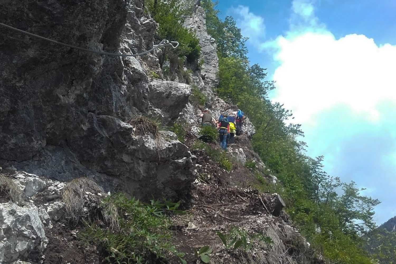 Via ferrata from Bled lake