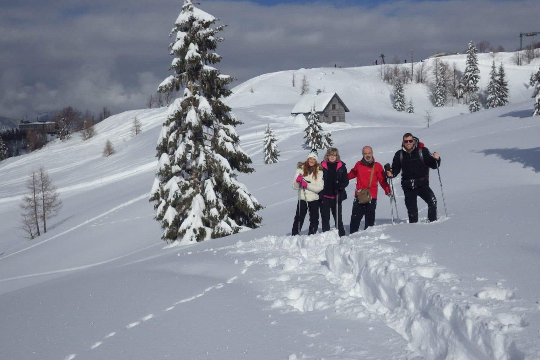 Snowshoeing on Vogel Slovenia
