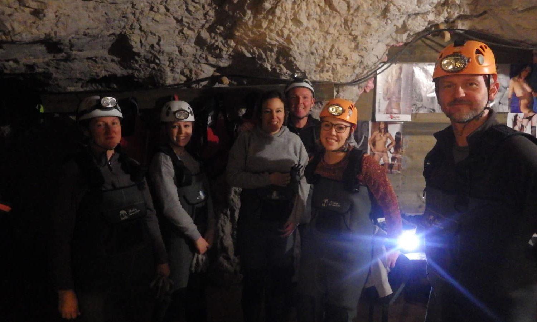 Explore the caves in Slovenia