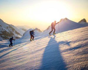 Ski touring in Slovenia Alps