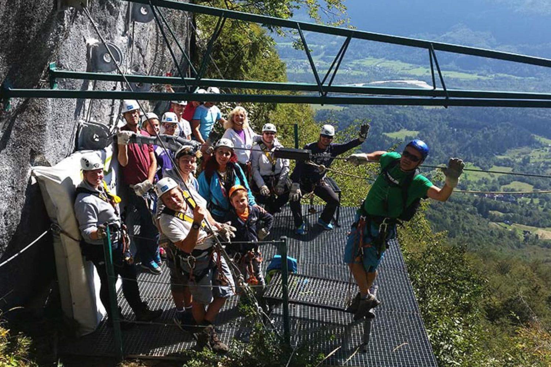 Zipline in Bovec from Bled