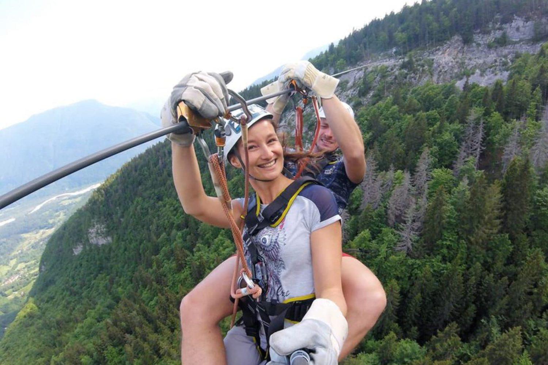 The best Zipline in Slovenija
