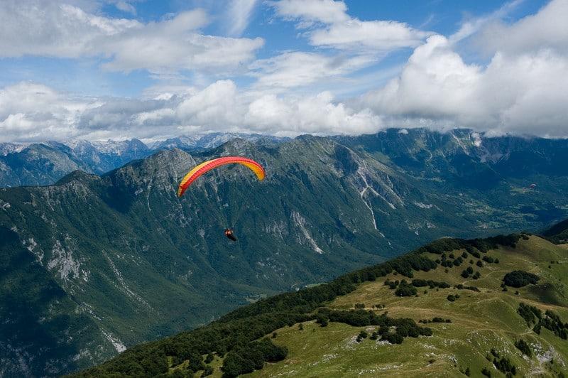 Paragliding in Bohinj lake