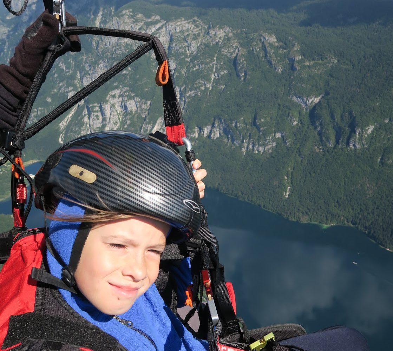 Paragliding from Vogel