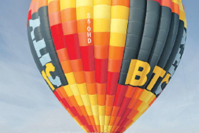 Winter balloon flight Slovenia