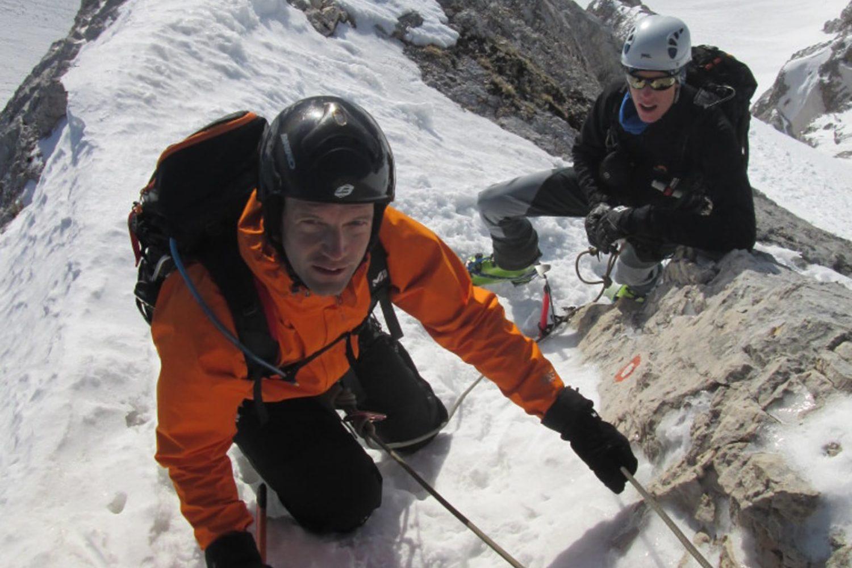 Winter mountaineering in Slovenija