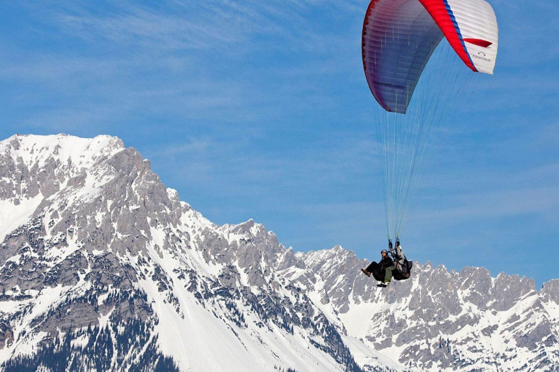 Winter paragliding in Slovenija