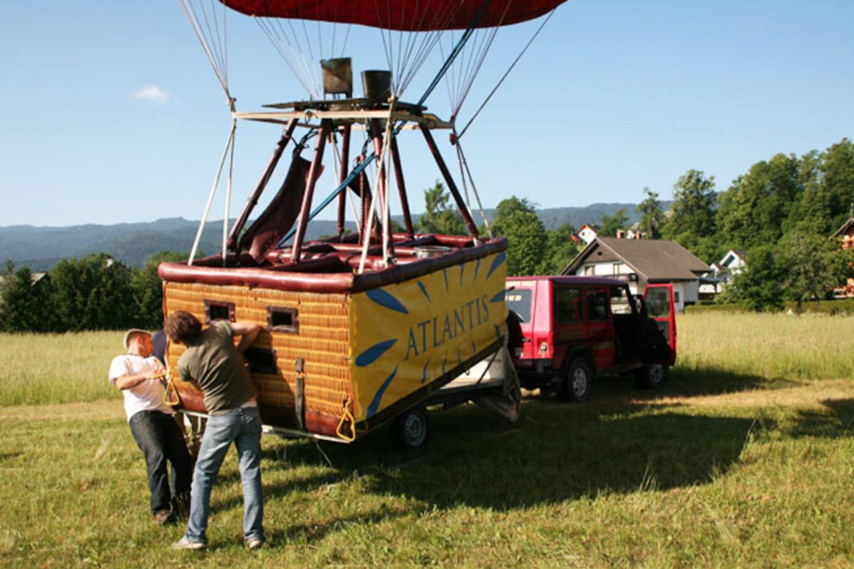 Balloon flight in Ljubljana