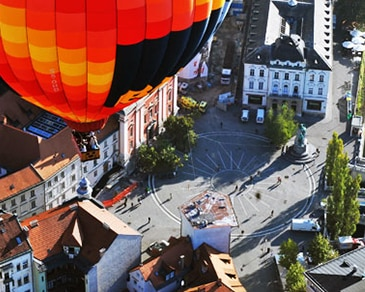 Balloon flight over Ljubljana