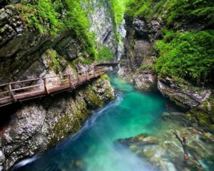 Self guided bike tour to Vintgar gorge from Bled