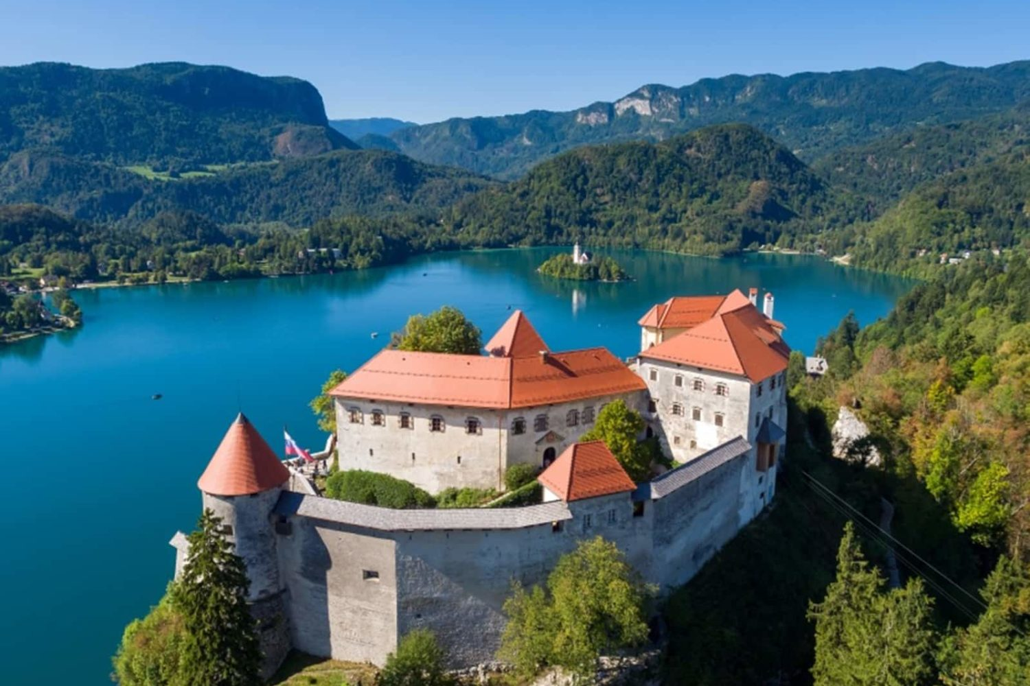 Ljubljana to Bled castle with private shuttle