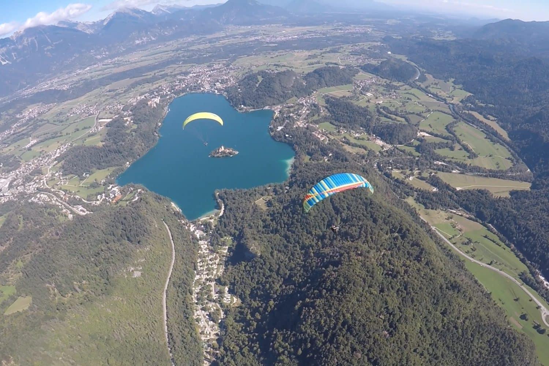 Paragliding lake Bled